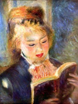 Czytelniczka - Pierre Auguste Renoir - reprodukcja