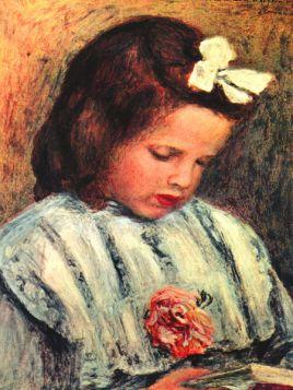 Czytająca dziewczynka - Pierre Auguste Renoir - reprodukcja
