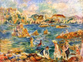 Na plaży w Guernesey - Pierre Auguste Renoir - reprodukcja