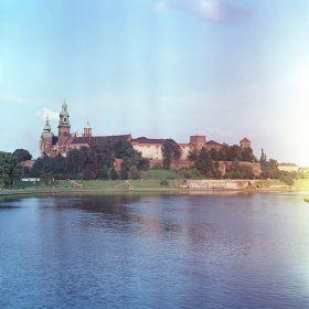 Widok na Wawel od strony mostu dębnickiego
