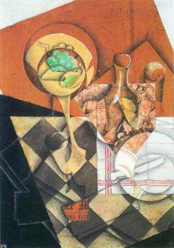 Juan Gris Fruit peel and carafe