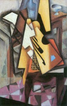 Juan Gris Guitar and stool