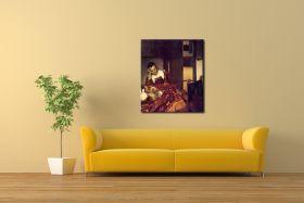 Pijana dziewczyna śpiąca przy stole Vermeer Jan / albo: Służąca śpiąca przy stole - obraz