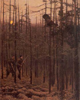 Józef Chełmoński – Polowanie na głuszca