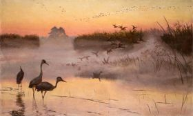 Józef Chełmoński – Świt. Królestwo ptaków