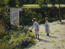 Dzieci w ogrodzie Władysław Podkowiński – reprodukcja