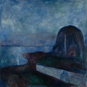 Gwieździsta noc - Edvard Munch - reprodukcja