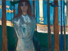 Głos, Letnia noc  -  Edvard Munch - reprodukcja