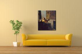 Kobieta z lutnią Vermeer Jan - reprodukcja obrazu