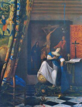 Alegoria wiary Vermeer Jan - reprodukcje obrazu