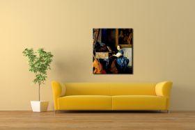 Dziewczyna siedząca przy klawesynie Vermeer Jan - reprodukcja obrazu