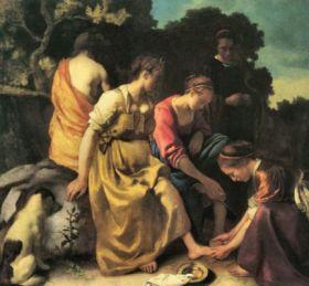 Toaleta Diany Vermeer Jan - reprodukcja obrazu