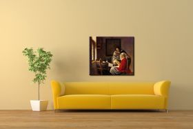 Przerwana lekcja muzyki Vermeer Jan - reprodukcja obrazu