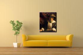 Dziewczyna z fletem Vermeer Jan - reprodukcja obrazu