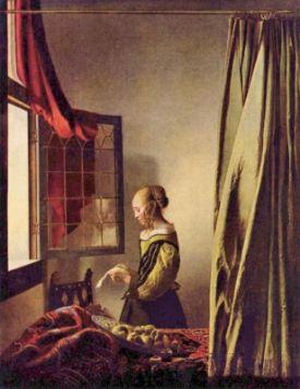 Dziewczyna czytająca list przy otwartym oknie Vermeer Jan - reprodukcja obrazu