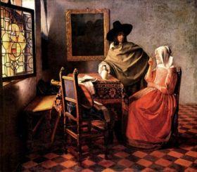 Kielich wina Jan Vermeer - reprodukcja obrazu