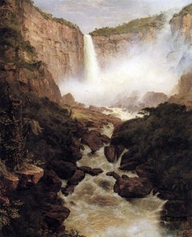Frederick Edwin Church Tequendama falls, near Bogota, New Granada