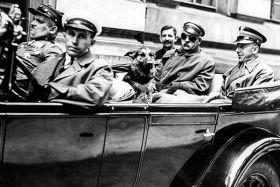Kartka pocztowa – Wyjazd Józefa Piłsudskiego z Warszawy do Sulejówka