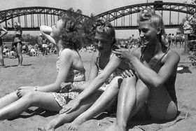 Kartka pocztowa – Plaża nad Wisłą