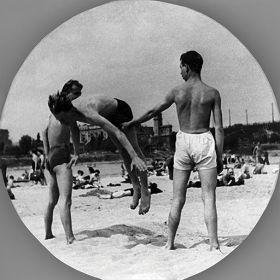 Kartka pocztowa – plaża w Warszawie