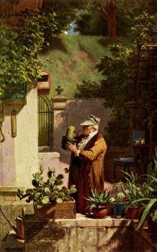 Miłośnik kaktusów - Carl Spitzweg - reprodukcja