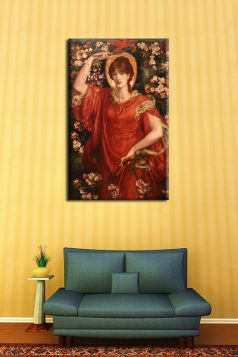 Wizja Fiammetty - Dante Gabriel Rossetti - reprodukcja