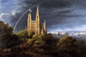 Karl Friedrich Schinkel – Gothic Cathedral and Imperial-Palace
