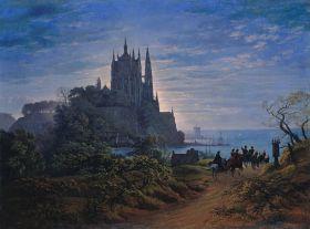 Karl Friedrich Schinkel – Gothic church on a cliff by the sea