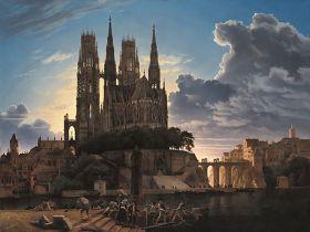 Średniowieczne miasto nad rzeką Karl Friedrich Schinkel