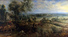 Peter Paul Rubens – Krajobraz z zamkiem Steen