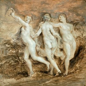 Peter Paul Rubens – Trzy Gracje Szkic