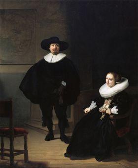 Rembrandt – Dama i Pan w Czerni