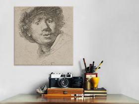 Rembrandt – Autoportret szkic