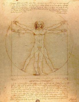 Człowiek Witruwiański obraz Leonarda da Vinci