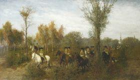 Aleksander Gierymski – Konna kawalkada w Brzezince