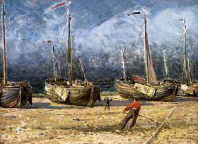Aleksander Gierymski – Łodzie rybackie