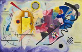 Żółty Czerwony Niebieski - Wassily Kandinsky – reprodukcja