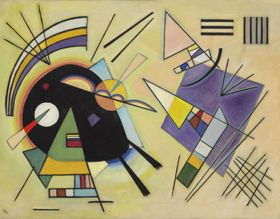 Czarny i fioletowy - Wassily Kandinsky – reprodukcja