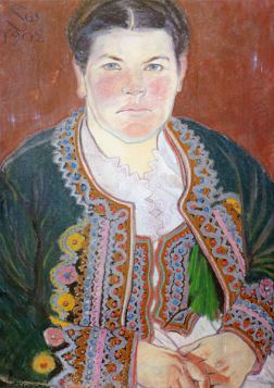 Portret żony w serdaku Stanisław Wyspiański - reprodukcja