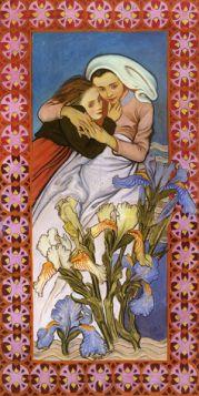 Madonna z Dzieciątkiem Caritas - Stanisław Wyspiański – reprodukcja obrazu
