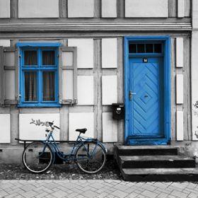 Magnes - Amsterdam, niebieski rower
