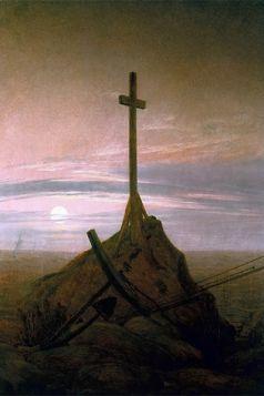 Krzyż nad Bałtykiem - Caspar David Friedrich - reprodukcja