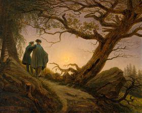 Dwaj mężczyźni kontemplujący księżyc Caspar David Friedrich - reprodukcja