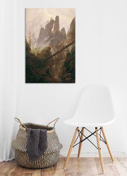 Pejzaż skalny w górach Połabskich - Caspar David Friedrich - reprodukcja