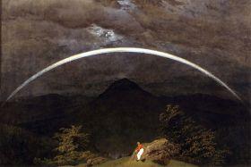 Pejzaż z tęczą - Caspar David Friedrich - reprodukcja