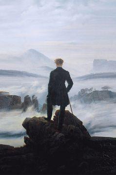 Wędrowiec nad morzem mgły - Caspar David Friedrich - reprodukcja