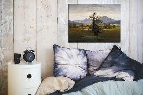 Wiejski pejzaż w świetle poranka -  Caspar David Friedrich - reprodukcja