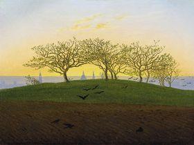 Wzgórze i pole w pobliżu Drezna - Caspar David Friedrich - reprodukcja