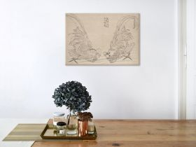 Album Szkiców, Koguty - Katsushika Hokusai - reprodukcja