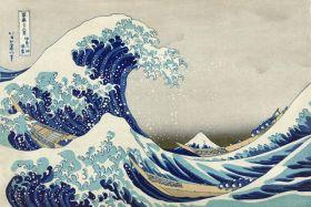 Wielka fala w Kanagawie - Katsushika Hokusai - reprodukcja